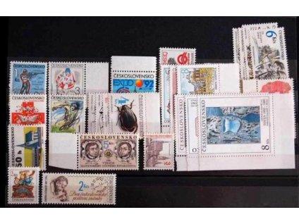 1992, kompletní ročník výplatních známek, ** , ilustrační foto