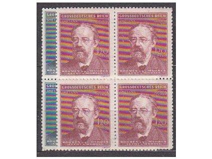 1944, 60h-1.20K Smetana, série, 4bloky, Nr.118-19, **