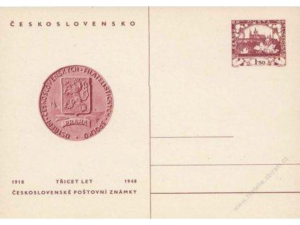 CDV 95 30 let československé poštovní známky
