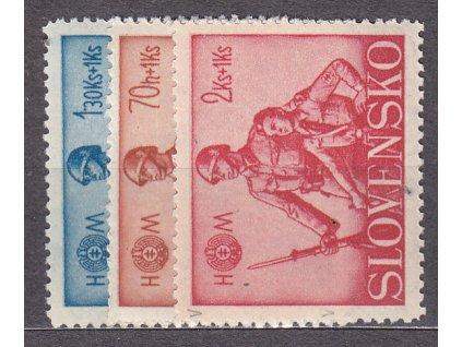 1942, 70h-2Ks Hlinkova mládež, série, Nr.65-7, **, ilustrační foto