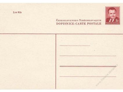 CDV 96 Gottwald, dopisnice pro cizinu