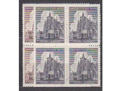 1944, 1.50-2.50K sv.Vít, série, 4bloky, Nr.120-1, **