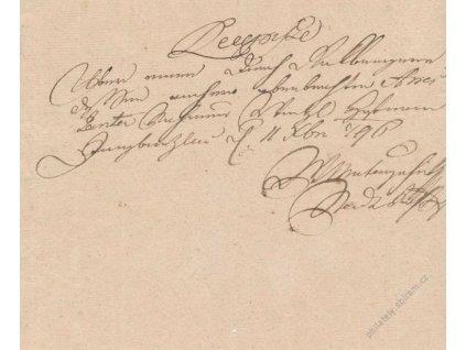 Recepis z roku 1796, lehké přehyby, hledané