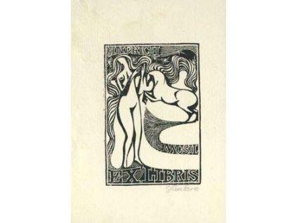 Cimbura, E.J., 1944, Ex Libris, skvrna