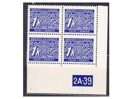 A-1K modrá, roh. 4blok s DČ 2A-39 varianta Py, Nr.DL9, **