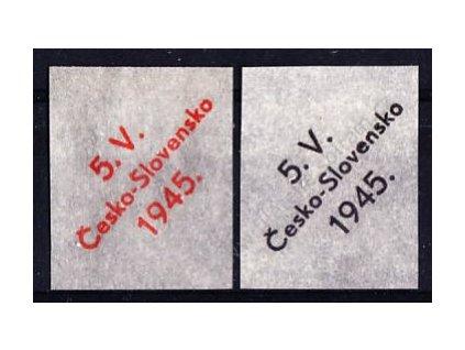 2 ks ZT přetisku na průsvitné papíru v oranžové a černé barvě
