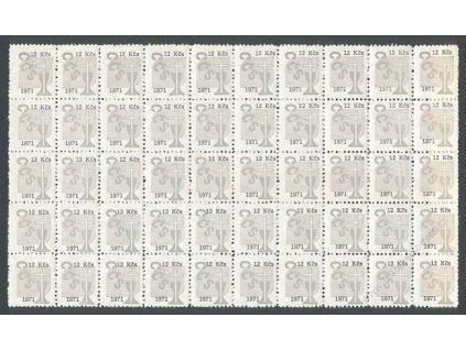 Církevní známky, 1971, 12Kčs, 50blok, **