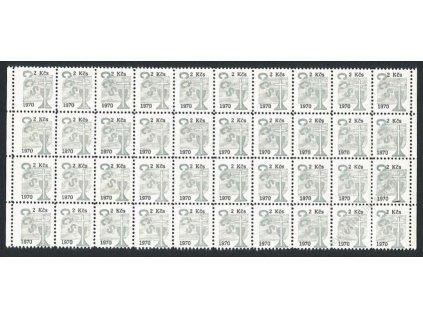 Církevní známky, 1970, 2Kčs, 40blok, **