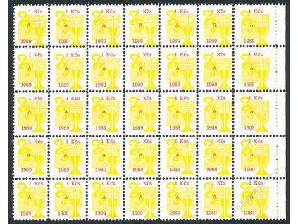 Církevní známky, 1969, 1Kčs, 35blok, **