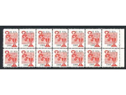 Církevní známky, 1969, 15Kčs, 14blok, **