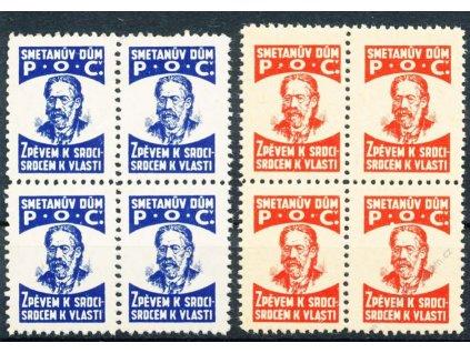 Smetanův dům P.O.C., 2 kusy, ** , 4blok