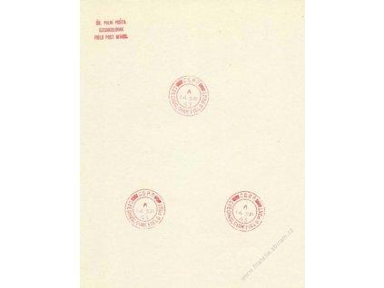 ČSPP v Anglii, 1943, pamětní 2list, A5