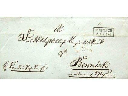 Nimptsch, skládaný dopis z roku 1859