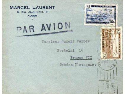 Alžír, 1943, let. dopis, DR Alger