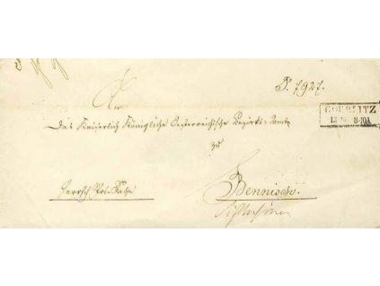 Göerlitz, skládaný dopis z roku 1857