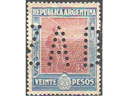 Argentina, 1912, 20P, perfin, * po nálepce