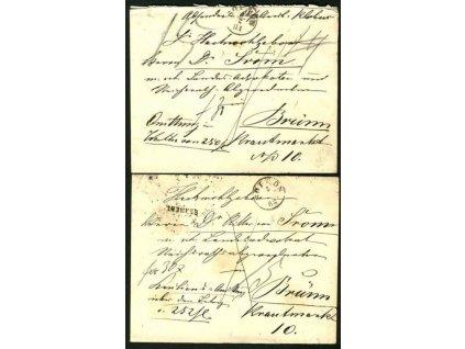 Sopron, 1881-82, 2 ks cenných dopisů