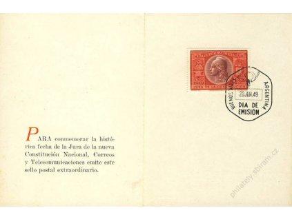 Argentina, 1949, pamětní 2list, FDC