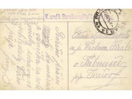 1914, Praha, K.u.k. Barakenspital Letna Prag