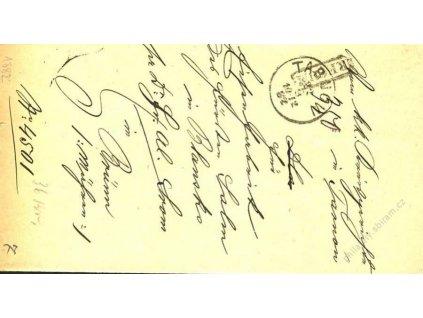 Tarnow + Recom, skládaný dopis z roku 1882
