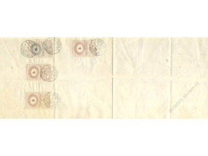 Maďarsko, 1942, směnka s kolky 3+3+3+36f, DR Dunaszeroahely