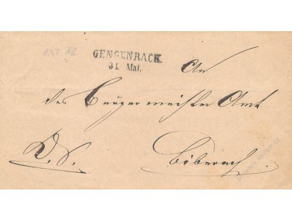 Gengenrack, skládaný dopis z roku 185?, horší jakost