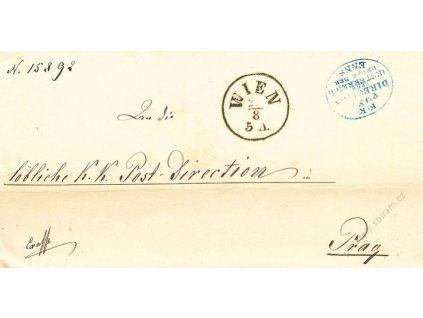 Wien + K.K. Post Direction, dopis z roku 1869