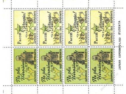 Japanujo 1965 Esperanto, nálepky, (*)