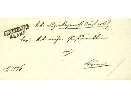 Austerlitz, skládaný dopis z roku 1851