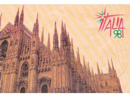 Italia 98, pamětní 2list s nálepkama Výstavy známek