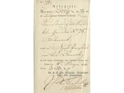 Brunn, recepis z roku 1824, ohyby