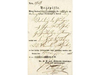 Brunn, recepis z roku 1841, ohyby
