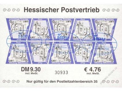Hessischer Postvertrieb, pamětní razítko, hledané