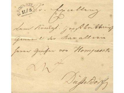 Eschweil, skládaný dopis z roku 1840