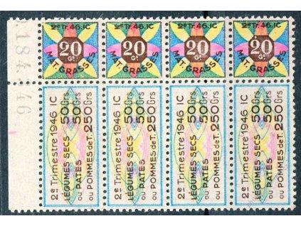 Kuponové známky 20C Trimestre 1946, (*)