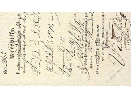 Brno, recepis z roku 1834, přeloženo