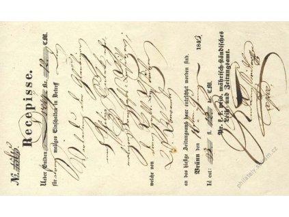 Brno, recepis z roku 1843, přeloženo