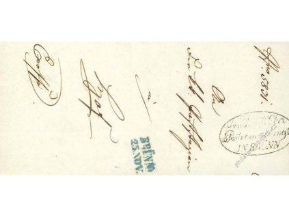 Brunn, modré + oválné, skládaný dopis