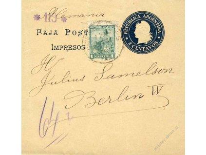 Argentina, 1901, DR Buenos Aires, novinová páska