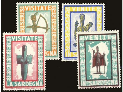 Visitate la Sardegna, 1926, 4 ks, * po nálepce