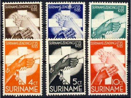 Suriname, 1935, 1-10C série, MiNr.171-76, **