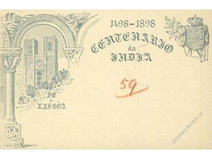 Azory, 1898, celinová pohlednice 20R, DR Ponta