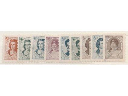 Deutsches bund, 2h Umělci, 9 ks, 1905, **/*