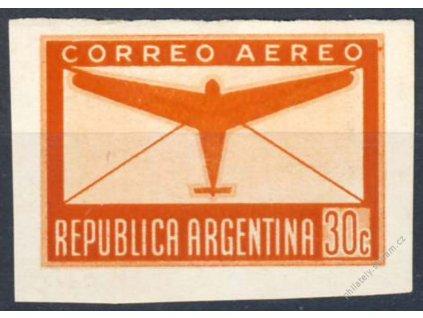 Argentina, 1940, 30C letecká, MiNr.456U, (*) , ZT