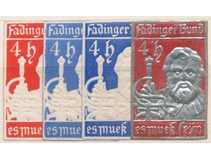 Fadinger Bund, 4h, 4 ks nálepek, každá jiná, **/*