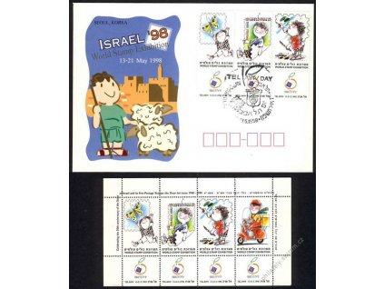 Israel, výstava známek, 1998, pamětní aršík