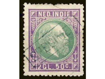 Indie, 1870, 2.50G Vilém, SPECIMEN, těžká *