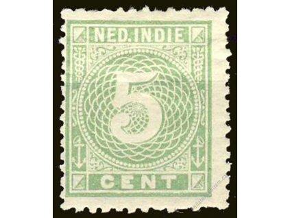 Indie, 1883, 5C zelená, MiNr.21, těžší *