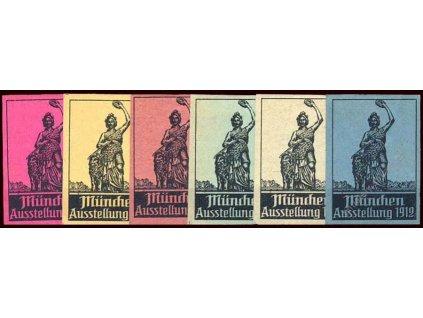 München 1912, výstava, 6 ks, * po nálepce