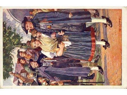 Permanent-Kranken-Zug, DR Pilsen, pohlednice
